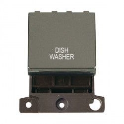 Click Minigrid MD022BNDW 20A DP Twin Width Dishwasher Switch Module Black Nickel