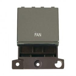 Click Minigrid MD022BNFN 20A DP Twin Width Fan Switch Module Black Nickel