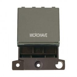 Click Minigrid MD022BNMW 20A DP Twin Width Microwave Switch Module Black Nickel