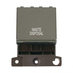 Click Minigrid MD022BNWD 20A DP Twin Width Waste Disposal Switch Module Black Nickel
