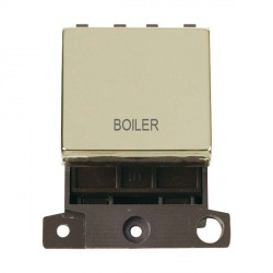 Click Minigrid MD022BRBL 20A DP Twin Width Boiler Switch Module Brass