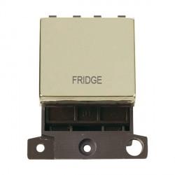 Click Minigrid MD022BRFD 20A DP Twin Width Fridge Switch Module Brass
