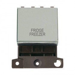 Click Minigrid MD022CHFF 20A DP Twin Width Fridge Freezer Switch Module Chrome