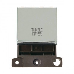 Click Minigrid MD022CHTD 20A DP Twin Width Tumble Dryer Switch Module Chrome