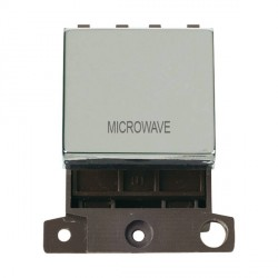 Click Minigrid MD022CHMW 20A DP Twin Width Microwave Switch Module Chrome