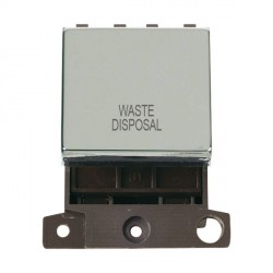 Click Minigrid MD022CHWD 20A DP Twin Width Waste Disposal Switch Module Chrome