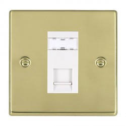 Hamilton Hartland Polished Brass 1 Gang RJ45 Outlet Cat 5e Unshielded with White Insert