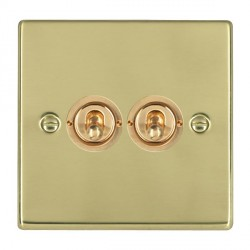 Hamilton Hartland Polished Brass 2 Gang 2 Way Dolly with Polished Brass Insert