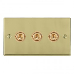 Hamilton Hartland Polished Brass 3 Gang 2 Way Dolly with Polished Brass Insert