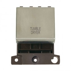 Click Minigrid MD022SSTD 20A DP Twin Width Tumble Dryer Switch Module Stainless Steel