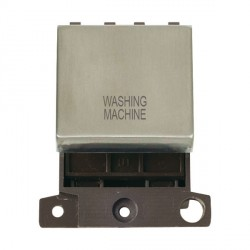 Click Minigrid MD022SSWM 20A DP Twin Width Washing Machine Switch Module Stainless Steel