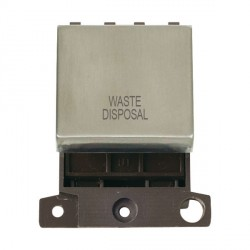 Click Minigrid MD022SSWD 20A DP Twin Width Waste Disposal Switch Module Stainless Steel