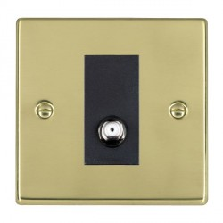 Hamilton Hartland Polished Brass 1 Gang Non Isolated Satellite with Black Insert
