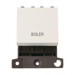 Click Minigrid MD022PWBL 20A DP Twin Width Boiler Switch Module Polar White
