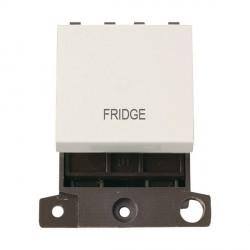 Click Minigrid MD022PWFD 20A DP Twin Width Fridge Switch Module Polar White