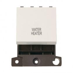 Click Minigrid MD022PWWH 20A DP Twin Width Water Heater Switch Module Polar White