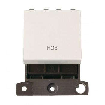 Click Minigrid MD022PWHB 20A DP Twin Width Hob Switch Module Polar White