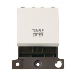 Click Minigrid MD022PWTD 20A DP Twin Width Tumble Dryer Switch Module Polar White