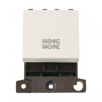 Click Minigrid MD022PWWM 20A DP Twin Width Washing Machine Switch Module Polar White