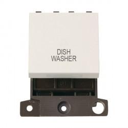 Click Minigrid MD022PWDW 20A DP Twin Width Dishwasher Switch Module Polar White