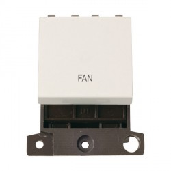 Click Minigrid MD022PWFN 20A DP Twin Width Fan Switch Module Polar White
