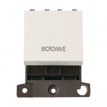 Click Minigrid MD022PWMW 20A DP Twin Width Microwave Switch Module Polar White