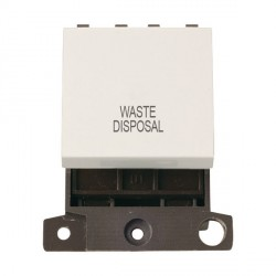 Click Minigrid MD022PWWD 20A DP Twin Width Waste Disposal Switch Module Polar White