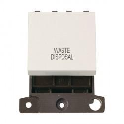 Click Minigrid MD022PWWD 20A DP Twin Width Waste Disposal Switch Module Polar White