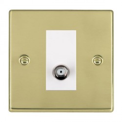 Hamilton Hartland Polished Brass 1 Gang Non Isolated Satellite with White Insert