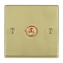 Hamilton Hartland Polished Brass 1 Gang Push To Make Retractive Dolly with Polished Brass Insert