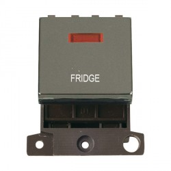 Click Minigrid MD023BNFD 20A DP Twin Width Fridge Switch Module with Neon Black Nickel