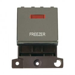 Click Minigrid MD023BNFZ 20A DP Twin Width Freezer Switch Module with Neon Black Nickel