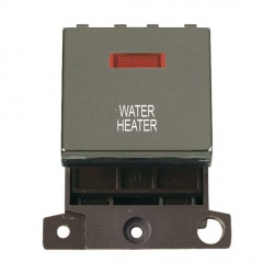 Click Minigrid MD023BNWH 20A DP Twin Width Water Heater Switch Module with Neon Black Nickel