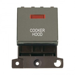 Click Minigrid MD023BNCH 20A DP Twin Width Cooker Hood Switch Module with Neon Black Nickel