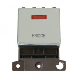 Click Minigrid MD023CHFD 20A DP Twin Width Fridge Switch Module with Neon Chrome