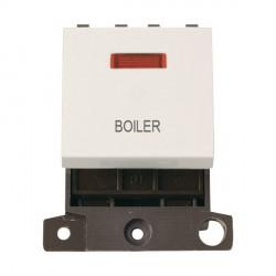 Click Minigrid MD023PWBL 20A DP Twin Width Boiler Switch Module with Neon Polar White