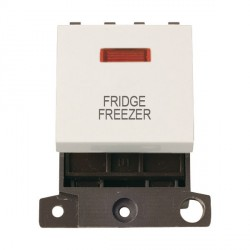 Click Minigrid MD023PWFF 20A DP Twin Width Fridge Freezer Switch Module with Neon Polar White