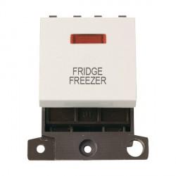 Click Minigrid MD023PWFF 20A DP Twin Width Fridge Freezer Switch Module with Neon Polar White