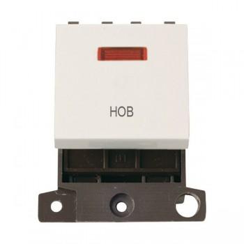 Click Minigrid MD023PWHB 20A DP Twin Width Hob Switch Module with Neon Polar White
