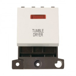Click Minigrid MD023PWTD 20A DP Twin Width Tumble Dryer Switch Module with Neon Polar White