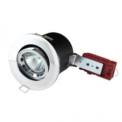 Knightsbridge 50W Tilt MR16 Chrome Downlight