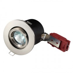 Knightsbridge 50W Tilt MR16 Brushed Chrome Downlight