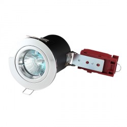 Knightsbridge 50W Fixed MR16 Chrome Downlight