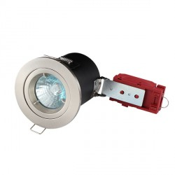 Knightsbridge 50W Fixed MR16 Brushed Chrome Downlight