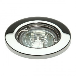 Knightsbridge L01 35W Fixed MR11 Chrome Pressed Steel Downlight