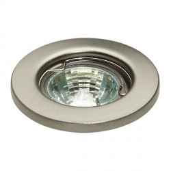 Knightsbridge L01 35W Fixed MR11 Brushed Chrome Pressed Steel Downlight