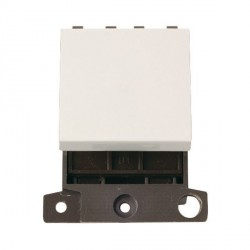 Click Minigrid MD032PW 32A Double Pole Twin Width Blank Switch Module Polar White