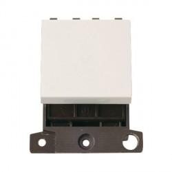 Click Minigrid MD032PW 32A Double Pole Twin Width Blank Switch Module Polar White