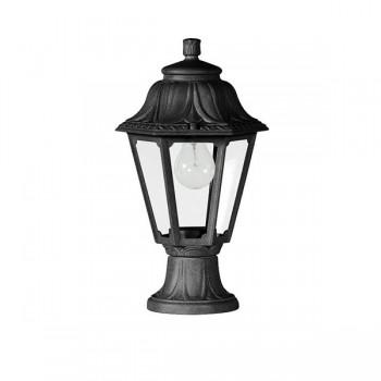 Fumagalli E22.110.AX.E27 Anna Mikrolot 385mm Black Pedestal Lantern
