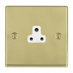 Hamilton Hartland Polished Brass 1 Gang 2A Unswitched Socket with White Insert